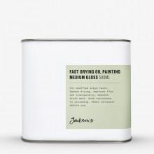 Jacksons huile médium : Huile de lin cuite rapide peinture moyen 500ml