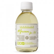 Sennelier : Green For Oil : Nettoyant pour Pinceaux 250ml