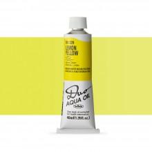 Holbein : Duo Aqua : Huile Miscible à l'eau: Peinture : 40ml : Lemon Yellow