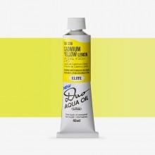 Holbein : Duo Aqua : Huile Miscible à l'eau: Peinture : 40ml : Cadmium Yellow Lemon