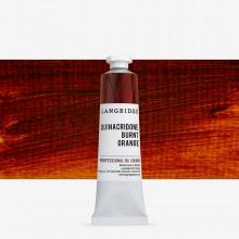 Langridge : Peinture à l'Huile: 40ml : Quinacridone Burnt Orange