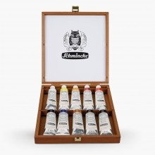 Schmincke : Mussini Oil : Wood Box Set of 10 x 35ml Tubes