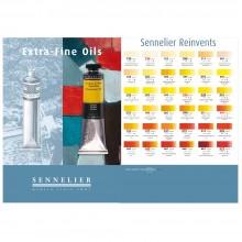 Sennelier huile, nuancier de couleur