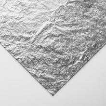 Handover : Imitation Silver Leaf Rolls : 50 metres