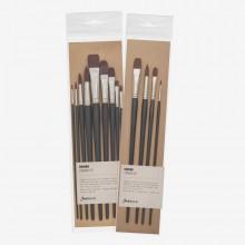 Jackson's : Shinku Dark Red Synthetic Brushes : Sets