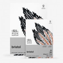 Winsor & Newton : Bristol Board Pad : 250gsm : 20 Sheets : Extra Smooth : Bright White