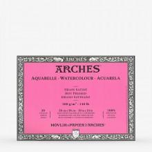 Arches : Aquarelle : Bloc : 36x26cm : 20 Feuilles : Encollé : Grain Satiné