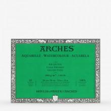 Arches : Aquarelle : Bloc : 36x26cm : 20 Feuilles : Encollé : Grain Fin