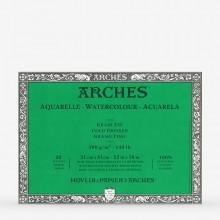 Arches : Aquarelle : Bloc : 40x30cm : 20 Feuilles : Encollé : Grain Fin
