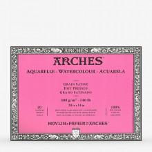 Arches : Aquarelle : Bloc : 50x36cm : 20 Feuilles : Encollé : Grain Satiné