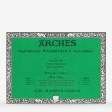 Arches : Aquarelle : Bloc : 50x36cm : 20 Feuilles : Encollé : Grain Fin