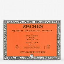 Arches : Aquarelle : Bloc : 50x36cm : 20 Feuilles : Encollé : Grain Torchon
