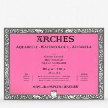 Arches : Aquarelle : Bloc : 60x45cm : 20 Feuilles : Encollé : Grain Satiné