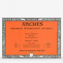 Arches : Aquarelle : Bloc : 60x45cm : 20 Feuilles : Encollé : Grain Torchon