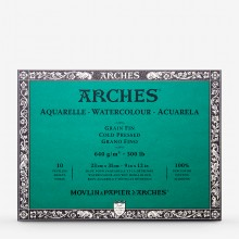 Arches : Aquarelle : Bloc à Fort Grammage : 20x30cm : 400lb : 10 Feuilles : Grain Fin