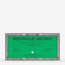 Arches : Aquarelle : Bloc : 16x30cm : 20 Feuilles : Encollé : Grain Fin