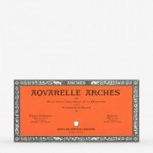 Arches : Aquarelle : Bloc : 16x30cm : 20 Feuilles : Encollé : Grain Torchon