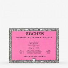 Arches : Aquarelle : Bloc : 26x18cm : 20 Feuilles : Encollé : Grain Satiné
