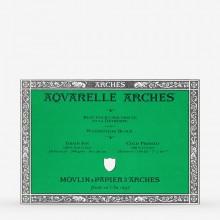 Arches : Aquarelle : Bloc : 26x18cm : 20 Feuilles : Encollé : Grain Fin