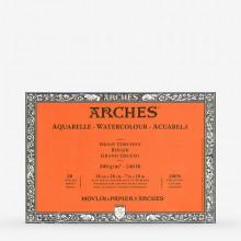 Arches : Aquarelle : Bloc : 26x18cm : 20 Feuilles : Encollé : Grain Torchon
