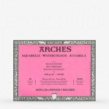 Arches : Aquarelle : Bloc : 30x23cm : 20 Feuilles : Encollé : Grain Satiné