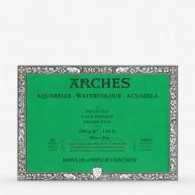 Arches : Aquarelle : Bloc : 30x23cm : 20 Feuilles : Encollé : Grain Fin