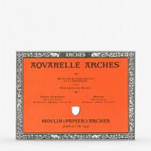 Arches : Aquarelle : Bloc : 30x23cm : 20 Feuilles : Encollé : Grain Torchon