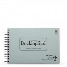 Bockingford : Bloc avec Spiral Encollé : 200lb : 425gsm :30x40cm : 20 Feuilles : Grain Fin