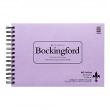 Bockingford : Spirale de garniture : 200lb (425 g/m²): 20 s: surface rugueuse : 71/2x11in