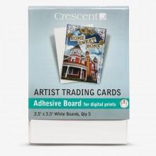 Crescent : Artist Trading Cards : Montagne Parfaite : Blanc : Auto Adhésif: 2.5x3.5in : Pack 5