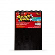 Crescent : Graffiti Manga Papier: Bord à Spiral : Book : 150g 25 Feuilles : 7x10in