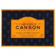 Canson : Heritage : Bloc Papier Aquarelle : 300gsm : 18x26cm : 20 Feuilles : Grain Fin