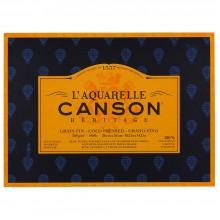 Canson : Heritage : Bloc Papier Aquarelle : 300gsm : 26x36cm : 20 Feuilles : Grain Fin