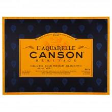 Canson : Heritage : Bloc Papier Aquarelle : 300gsm : 31x41cm : 20 Feuilles : Grain Fin
