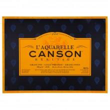 Canson : Heritage : Bloc Papier Aquarelle : 300gsm : 46x61cm : 20 Feuilles : Grain Fin