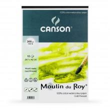 Canson : Moulin du Roy : Bloc Papier Aquarelle : A3 : 300gsm : 10 Feuilles : Grain Fin
