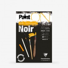 Clairefontaine : PaintOn : Glued Pad : 250gsm : 20 Sheets : A5 : Black