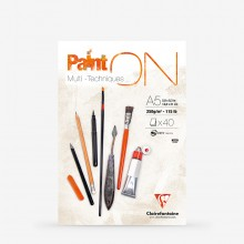 Clairefontaine : PaintOn : Glued Pad : 250gsm : 40 Sheets : A5 : White
