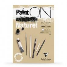 Clairefontaine : PaintOn Natural : Bloc Encollé: 250gsm : 30 Feuilles : A3