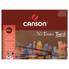 Canson : Mi-Teintes Touch : Bloc de Papier Pastel : 350g : 24x32cm
