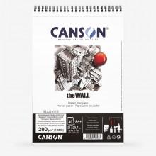 Canson :The Wall : Marqueur Bloc de Papier : A4+ : 220gsm : 30 Feuilles