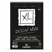 Canson : XL : Black : Spiral Pad : 150gsm : 40 sheets : A3