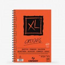 Canson : XL : Croquis : Spiral Pad (Long Edge) : 90gsm : 120 Sheets : A4