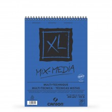 Canson : XL : Mixed Media : Spiral Pad : 300gsm : 30 Sheets : A4