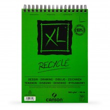 Canson : XL : Recycled : Spiral Pad : 160gsm : 50 Sheets : A3