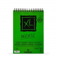 Canson : XL : Recycled : Spiral Pad : 160gsm : 50 Sheets : A4
