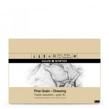 Daler Rowney :Bloc : Papier Dessin : Grain Fin 120gsm : A2