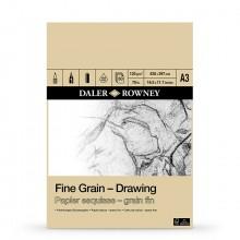 Daler Rowney :Bloc : Papier Dessin : Grain Fin 120gsm : A3