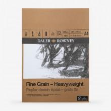 Daler Rowney :Bloc : Papier Dessin Epais : Grain Fin : 200gsm 30 Feuilles : A4