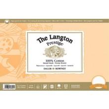 Daler Rowney : Langton : Prestige : Bloc Papier Aquarelle: 25x35cm : Grain Satiné